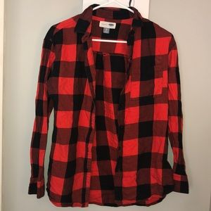 Old Navy Red and Black Flannel